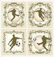 Vintage frame - soccer vector image vector image