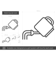 Watering can line icon vector image vector image