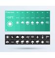 weather widget ui set of the flat design trend