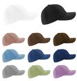 Baseball hats template vector image