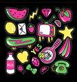 stickers collections in pop art style vector image