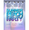 Disco background Summer beach party poster vector image