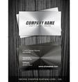 metallic business card vector image