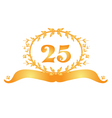 25th anniversary banner vector image vector image