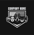 5 dog usa flage shield security vector image