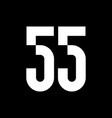 55 fifty five number logo icon sign vector image vector image