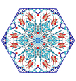 Antique ottoman turkish pattern design eighty vector image vector image
