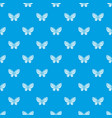 beautiful butterfly pattern seamless blue vector image vector image