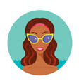 beautiful happy african american in stylish vector image vector image
