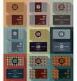 Big set of business card template vintage retro vector image vector image