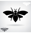 Black silhouette of the bee vector image
