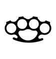 brass knuckles silhouette on vector image
