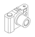 camera isometric outline drawing vector image