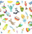 cartoon children toys pattern or background vector image vector image
