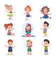 cute little children blowing and playing with soap vector image vector image