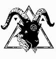 dark mystic goat1 vector image