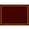 decorative frame with geometric tracery vector image vector image