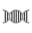 dna strand icon image vector image