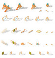 equipment for children playground isometric icon vector image