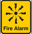 fire alarm emergency signs and symbols vector image vector image