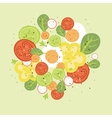 Fresh salad vector image vector image