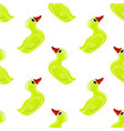 funny rubber yellow duck seamless pattern vector image vector image