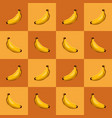 graphic banana in pattern vector image vector image