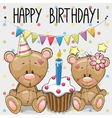 greeting card two cute cartoon bears
