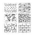 Hand drawn paving stones and blocks vector image