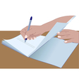 hands signing vector image vector image