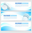 healthcare and medicine banners vector image vector image