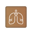 human lungs icon an internal organ human vector image vector image
