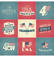 Independence Day Cards Set vector image vector image