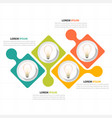 infographic modern bulb design four template vector image