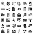 information security icons set simple style vector image vector image