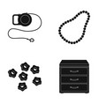 leash beads and other web icon in black style vector image vector image