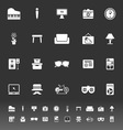 Living room icons on gray background vector image