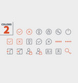 login ui pixel perfect well-crafted thin vector image vector image
