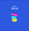 macaroons birthday card cute funny macaroons vector image
