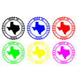 made in texas rubber stamp vector image