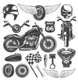 Motorcycle Icon Set vector image