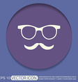 mustache and glasses hipster icon symbol vector image vector image