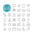 outline icon set pictogram set innovation vector image vector image