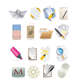 paper icons vector image vector image