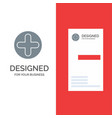 plus sign hospital medical grey logo design and vector image vector image
