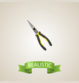 realistic long-pliers element vector image