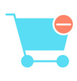 remove items from shopping cart icon pictogram vector image