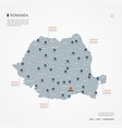 romania infographic map vector image vector image