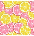 seamless pattern with pink and yellow citrus vector image vector image