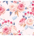 Seamless vintage roses vector image vector image